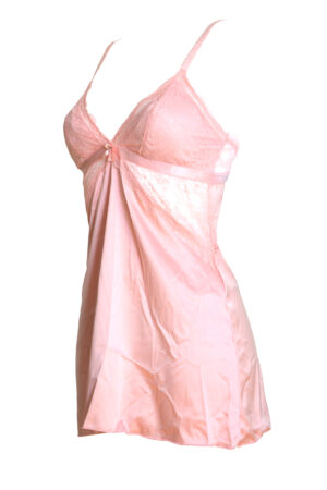 Vaaleanpunainen yöasu ja stringit Toplady